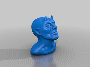 Human-like Demon Devil bust