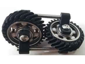 Helical Gears Steampunk Fidget