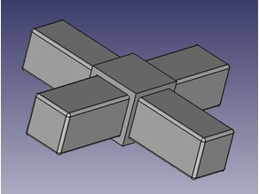 cross connector for square tube 10mm x 10mm x 1mm