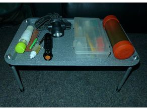 Bivvy table / small camping table for under $10,-