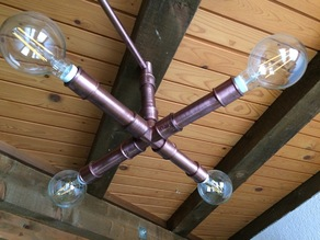 Steampunk Pipes Lamp