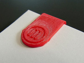 'Maker Clips'... Paper Clips / Mini Bookmarks for MakerBot users