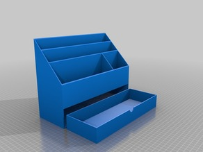 Desk Organizer with Drawer and Pen, Pencil, Scissor, and Marker Holder