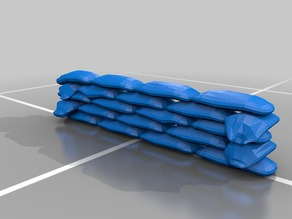 Miniature Sandbag Wall
