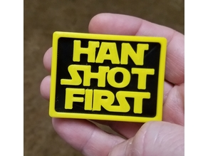 Han Shot First Plaque