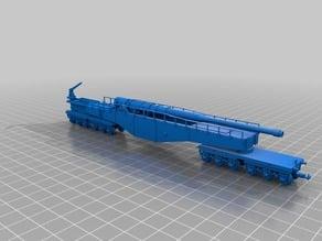"HO / N scale - Krupp K5 series long range railway gun ""Leopold""."
