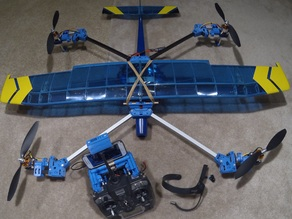 HeliPlane with Magnetic Servo Split Couplers