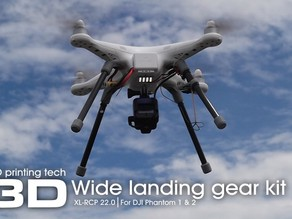 XL-RCP 22.0 Wide landing gear kit for DJI Phantom series