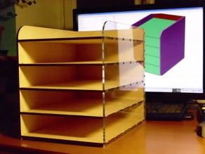 Parametric Desktop Filing Rack