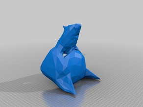 Wolf mask Low Poly