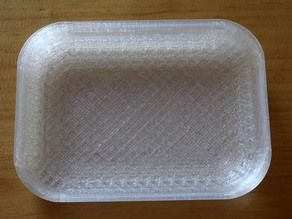 Parametric tray for parts, coins or other small items