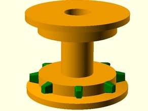 Guide roller for common film formats and also for SMD component tape feed.