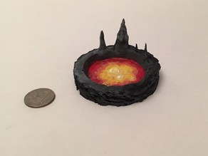 Miniature Magma Pool with Stalagmites