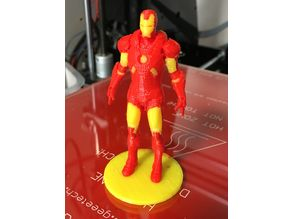 "Iron Man Statue (With ""Easy-to-remove"" Support) - multimaterial remix"