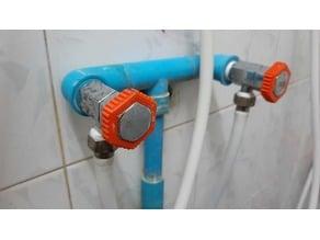 Faucet knob anti-slip grip ring (25mm).