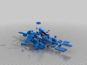 Clone Wars Lego Republic Gun Ship Exploded View