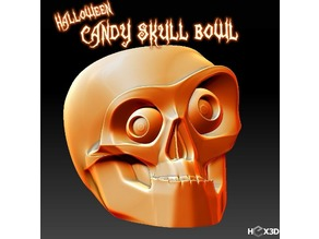 Halloween Candy Skull Bowl