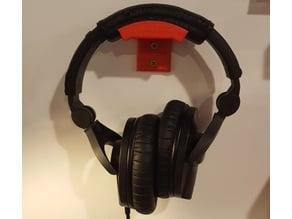 simple wall mounted headphone mount