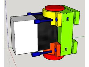 E twow Booster Clamp (scooter Frame Mounting) to add a box or bag - Plateau et Collier de serrage pour rajout de boite ou sac