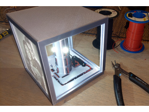 Rechargeable USB lithophane cube box with powerbank electronics