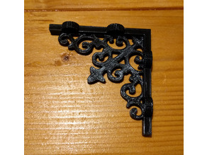 "Victorian Style Shelf Brackets - 4"" shelf"