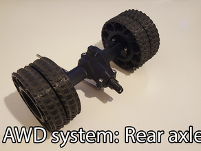 3D printed RC truck V3: Single rear axle(Dual wheels setup)
