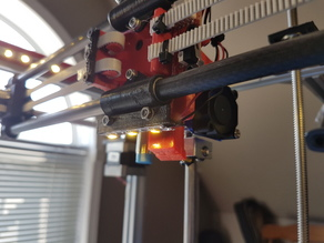 Hypercube LED Hotend mount bolt-on