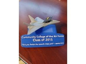 CCAF graduate plaque