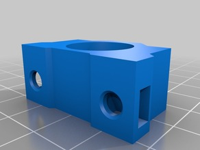 Linear Bearing Block symmetric with nut slots (OpenSCAD)