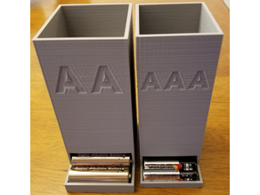 AA/AAA Battery Holder/Dispenser