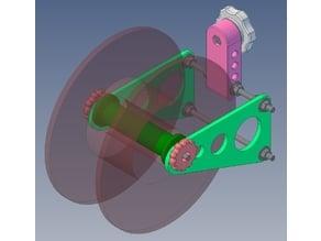 Spool Holder for Trinus3D Enclosure