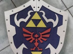 Hylian Shield for lasercutter 600 x 300 (each part)