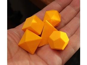 OpenSCAD platonic solids