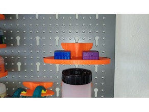 Paint Mixer Tray Holder for Metric Pegboards