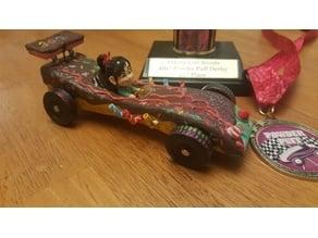 Vanellope Von Schweetz pinewood derby car