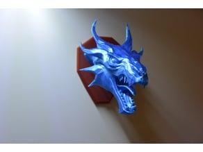 Skyrim Swamp Dragon wall Trophy