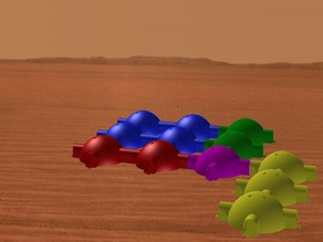 Mars base designed by UND Mars In Situ Resource Utilization Design Group