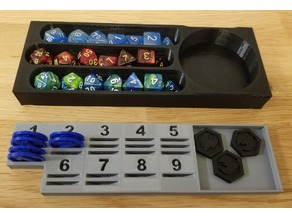 DnD dice holder and spell slot tracker