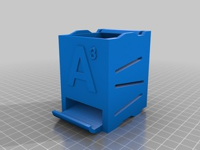 Stackable Battery Holder AAA nojam, fits on AA-sized holder