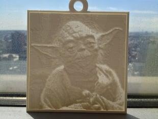 Yoda Lithopane
