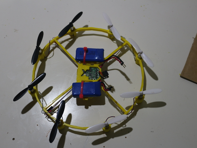 octocopter hubsan x by xinux thingiverse thingiview