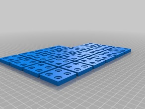 4 hole Flat Plate Bracket for Aluminium Extrusion Profiles (Misumi 2020, 2040, 4040, ...)