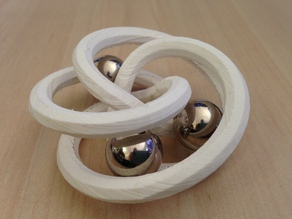 3 turn single torus - flexible kinetic art / penholder