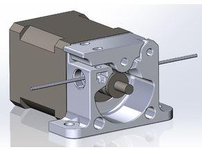 Compact Bowden Extruder for Leapfrog Creatr Dual 3D Printer Conversion