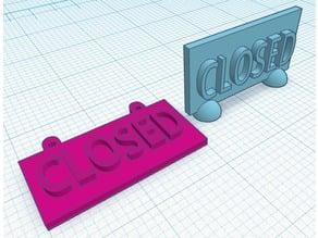 Closed Sign (H)