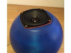 Spherical speaker - concrete reinforced
