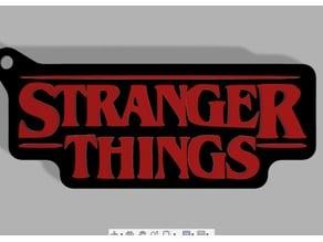 Stranger Things Logo Keychain