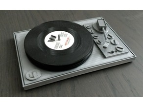 Turn table - holder for record coasters - Remix