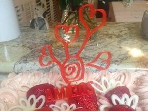 Valentine's day Cake Topper