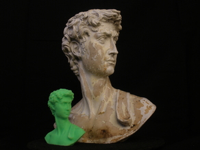 """David"" Garden Sculpture in Plaster"